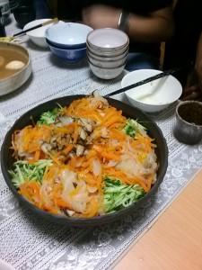 重ね煮(陰陽鍋)の冷やし中華