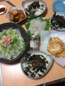 本日の豪華な食事
