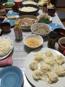 メニュー【素麺&冷しゃぶ】