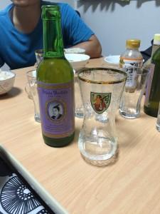 この日はビールも。吉田松陰ビールです。