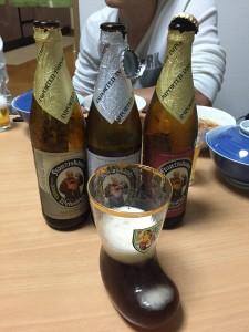 ドイツビール(塾長からのお土産)