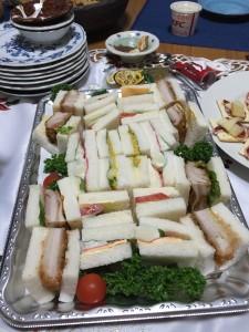 豪華サンドウィッチと、
