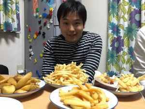 西田先生の大好物のポテトフライ