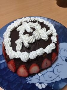 あんこもりもり(〝森〟と〝盛り〟がかかっているのですね。天才!)ケーキ♪