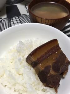 田崎氏からのお土産「角煮」絶品でした!