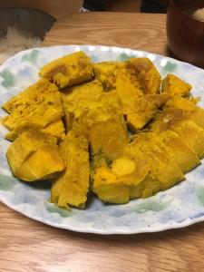 塾長が講演先でいただいた茨城県稲敷市特産「江戸崎かぼちゃ」