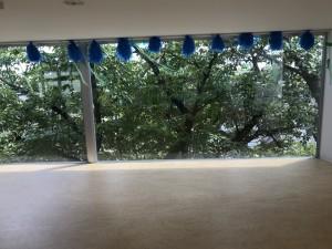 木の上に建てられたかのような眺望です