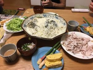 三人前の素麺