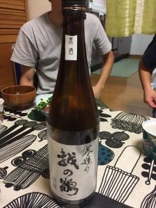 この日は日本酒も